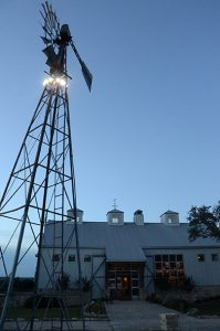 Kairos exterior with windmill